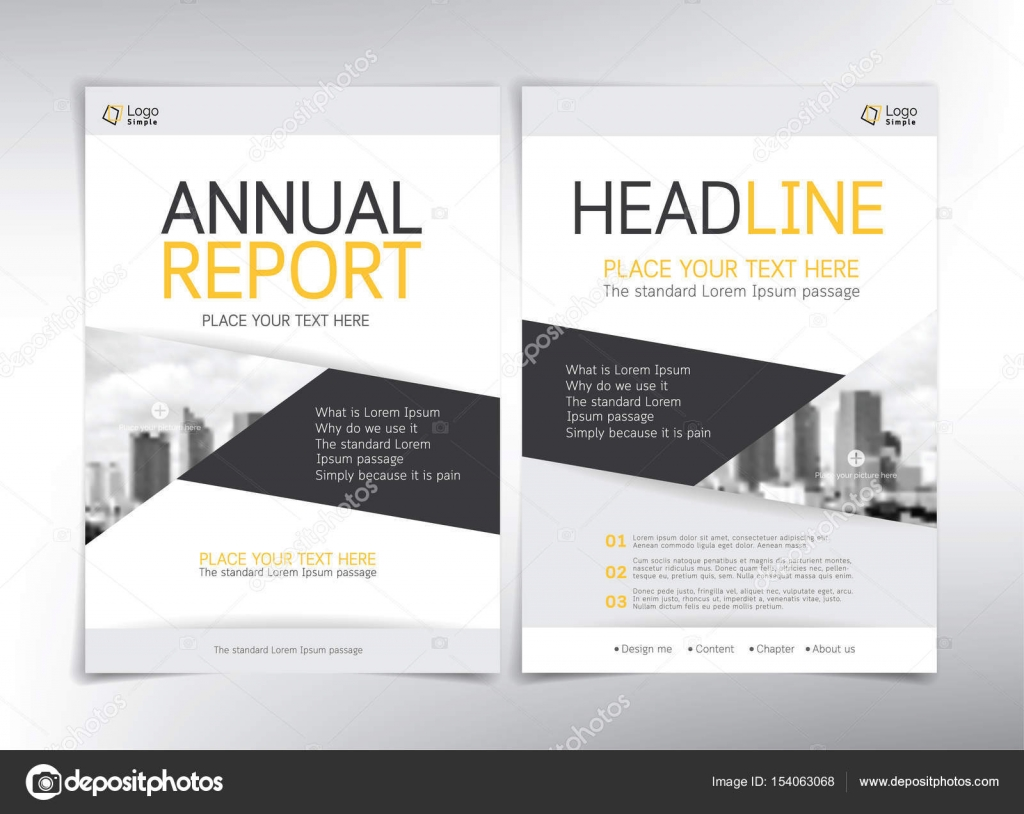 Modern Business Cover Pages Vector Template With Space For