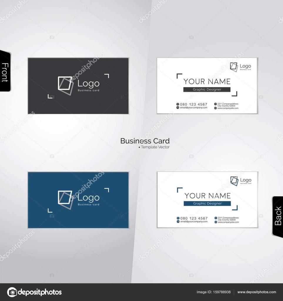 Fotograf Und Grafik Designer Visitenkarten Stockvektor
