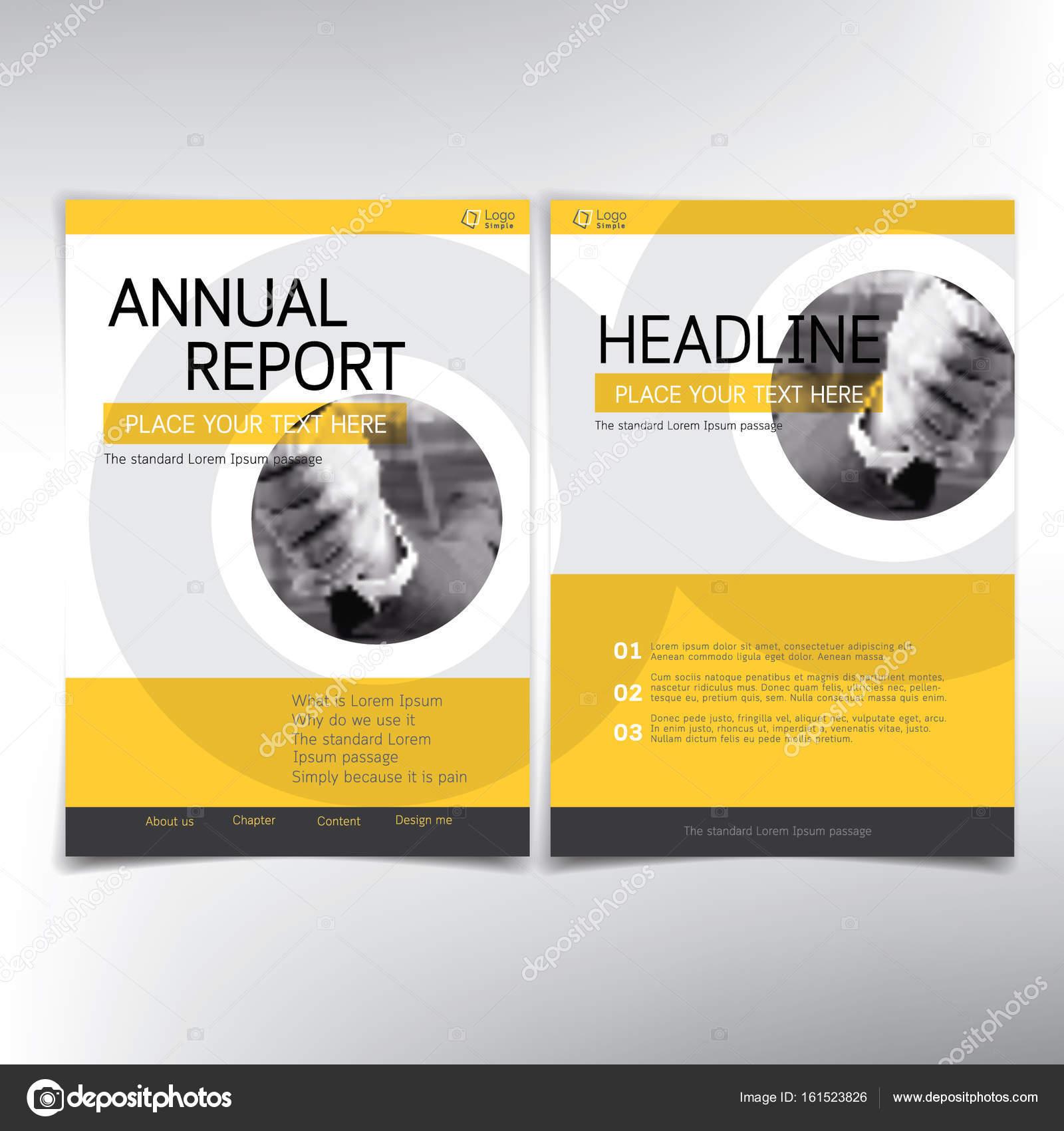 Moderne Business-Deckblatt, Vektor Vorlage, gelbe Thema ...