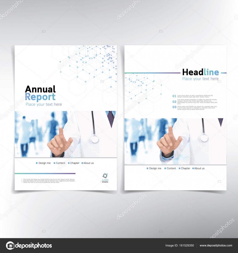 Moderne medizinische Deckblatt Jahresbericht — Stockvektor ...