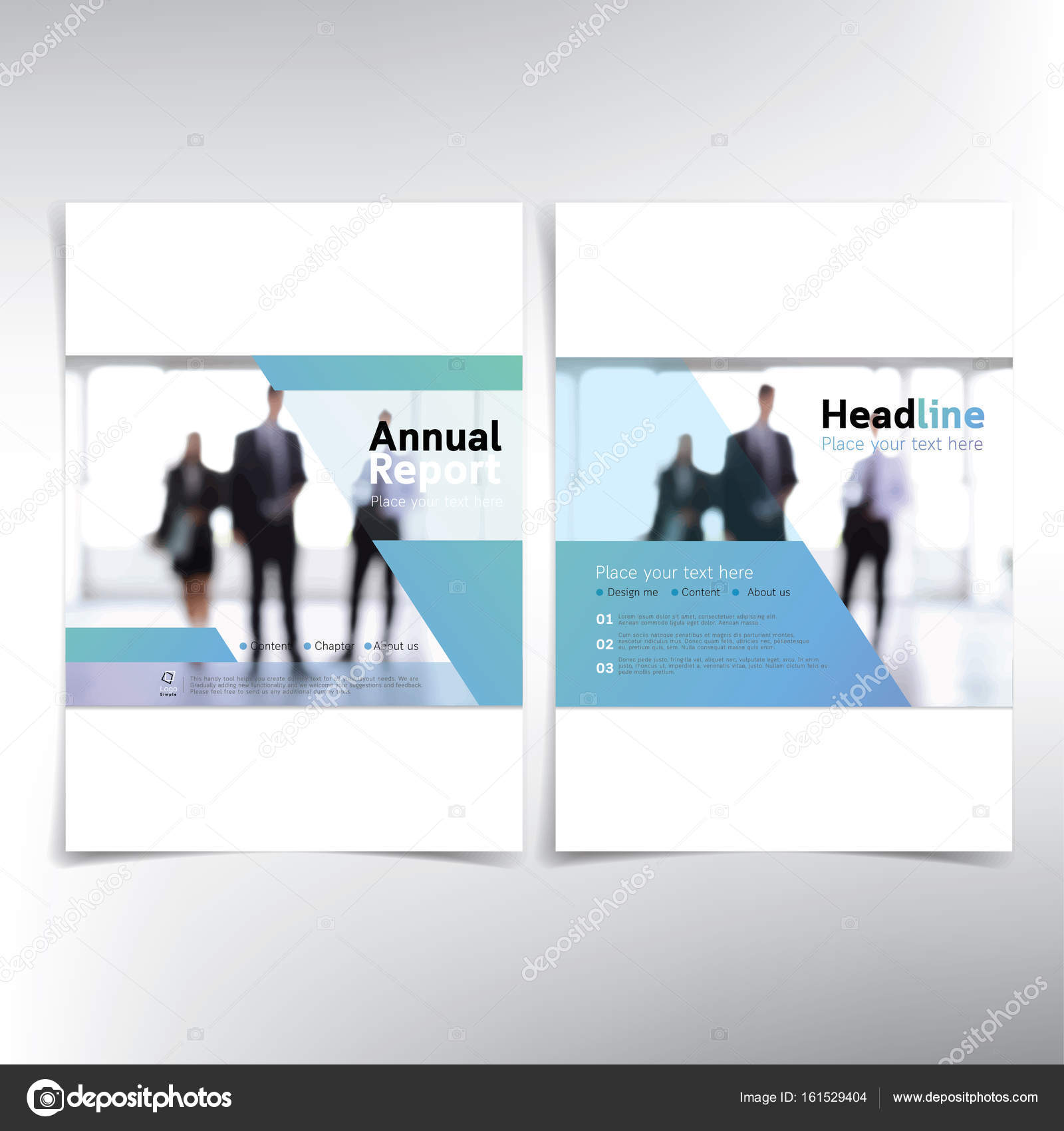 Modernes Business Deckblatt für Jahresbericht — Stockvektor ...