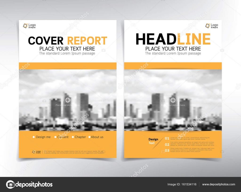 Moderne Business-Deckblatt, Vektor Vorlage, weiße und gelbe th ...