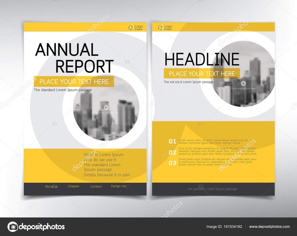 Moderne Business-Deckblatt, Vektor Vorlage, gelben und weißen th ...