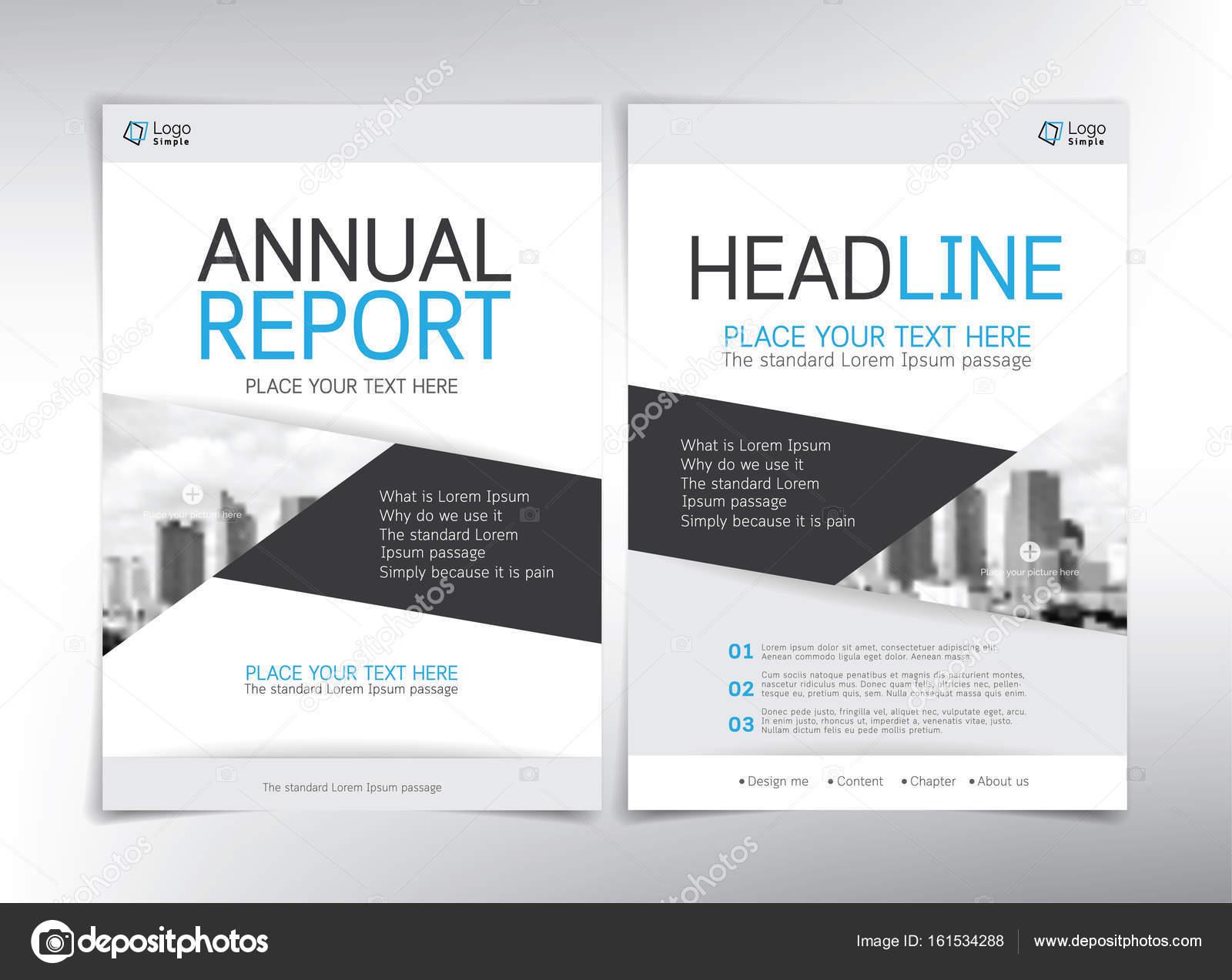 Moderne Business Deckblatt Vektor Vorlage Weiss Blau Und Grau