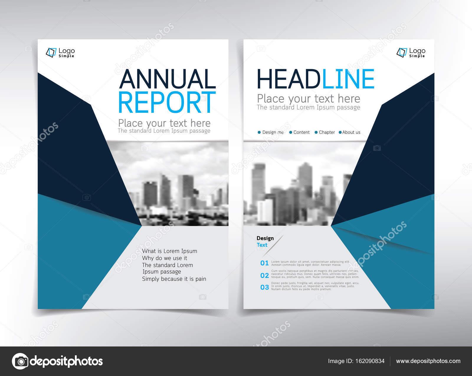 Modernes Weiß Und Blau Business Deckblatt Vektor Vorlage