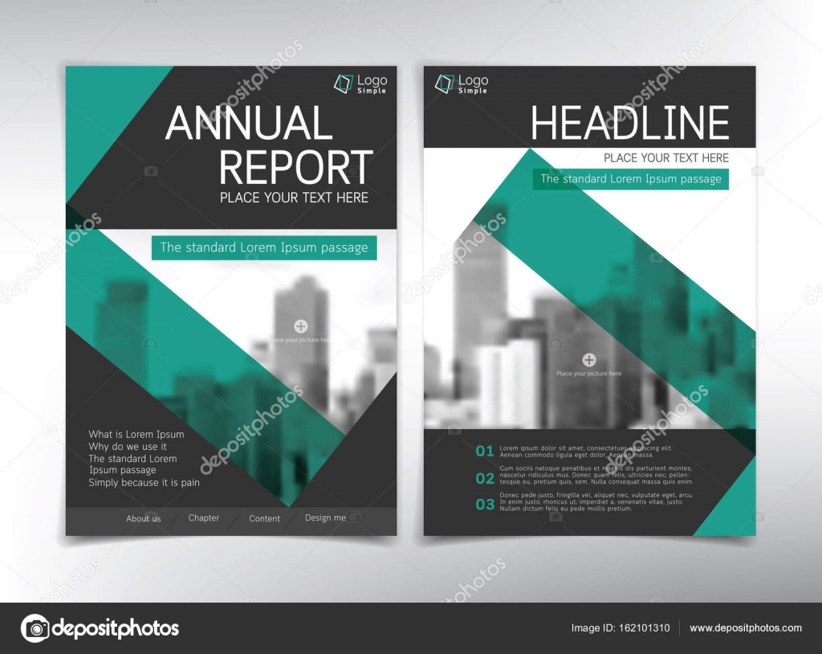 Moderne Business Deckblatt Vektor Vorlage Schwarz Und Grün Der