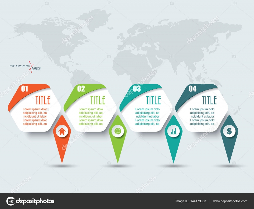 Vector infographic elements with 4 options and world map templa vector infographic elements with 4 options and world map templa stock vector gumiabroncs Images