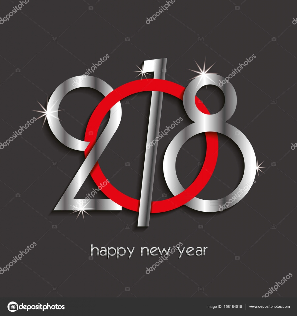 2018 happy new year or christmas background creative design stock vector