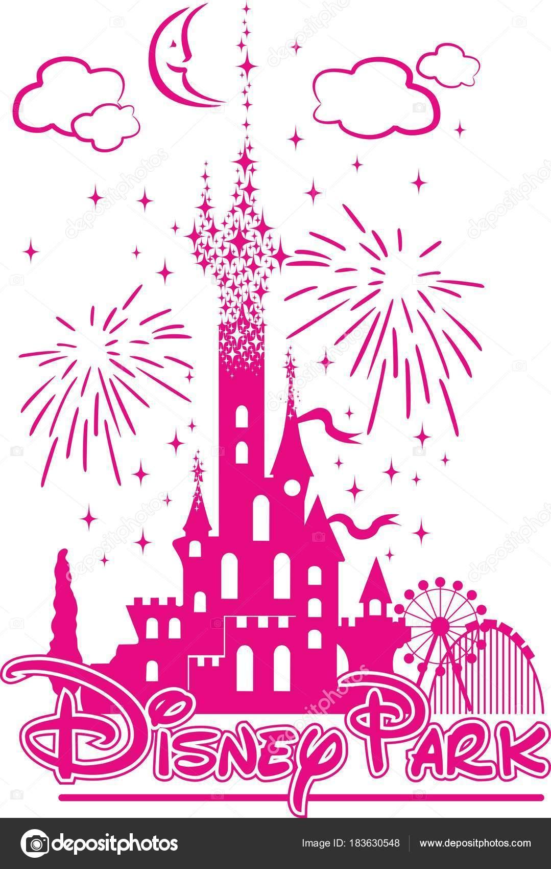 Vectores Disney Castillo De Disney En Medio De Diversion Y Fuegos