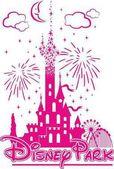 Fotografie Disney zámek uprostřed zábavního a ohňostroj
