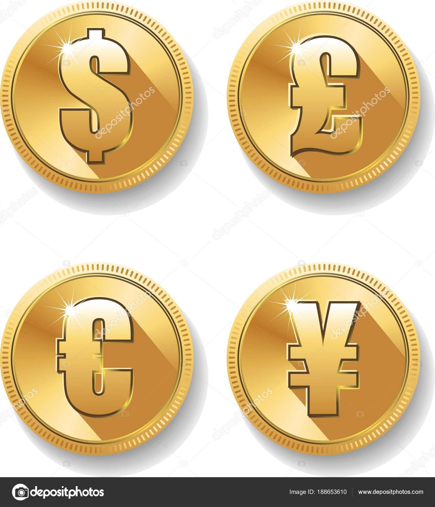 Currency Symbols Set Stock Vector Virtis 188653610