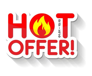 Hot offer sticker