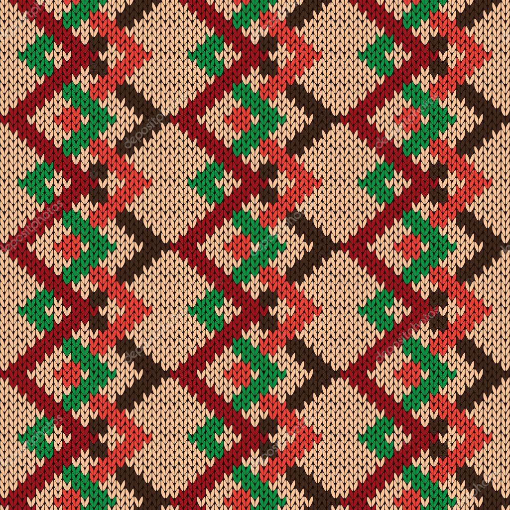 Manta sin costura zig-zag tejido en varios colores — Vector de stock ...