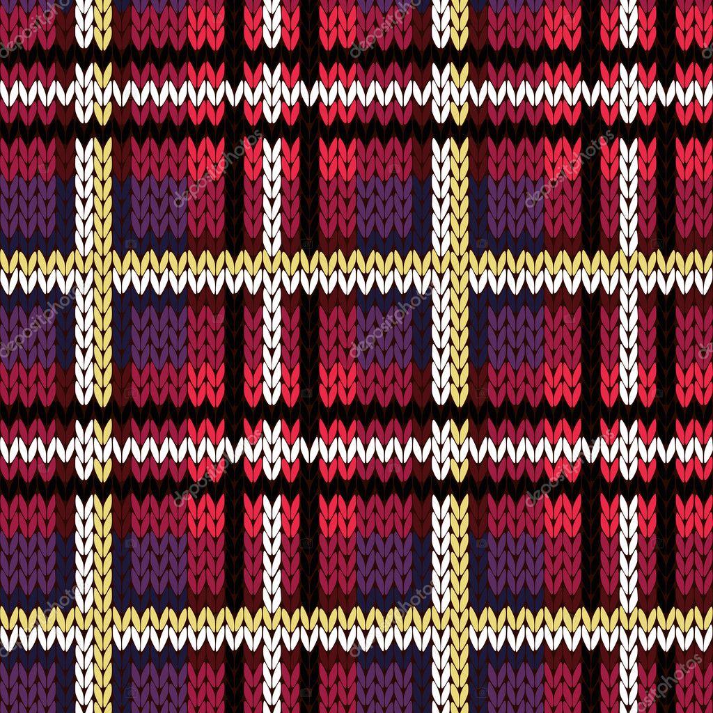 Tejido a cuadros de patrones sin fisuras en varios colores — Archivo ...