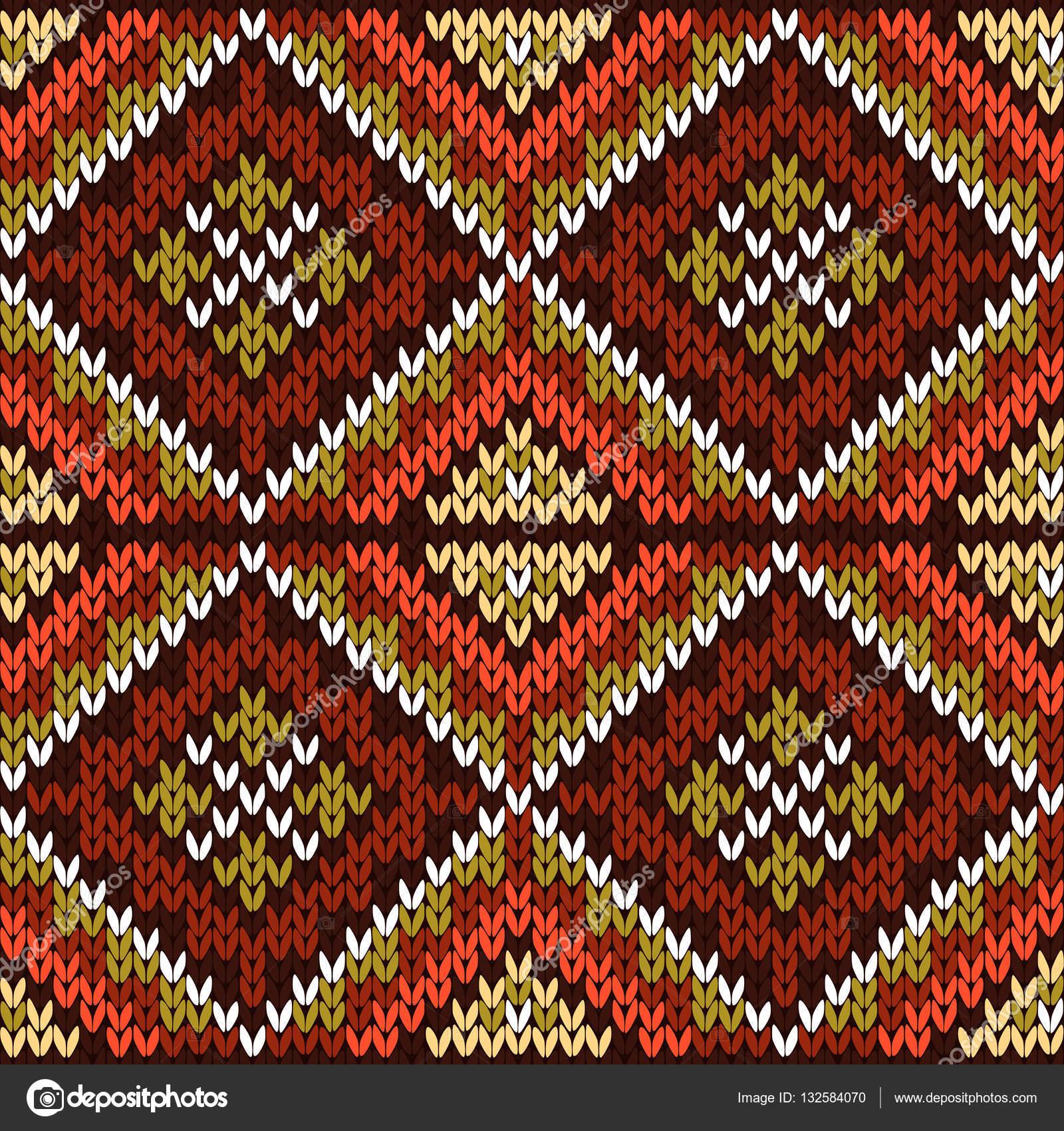 Sin fisuras patrón geométrico punto en tonos cálidos — Vector de ...