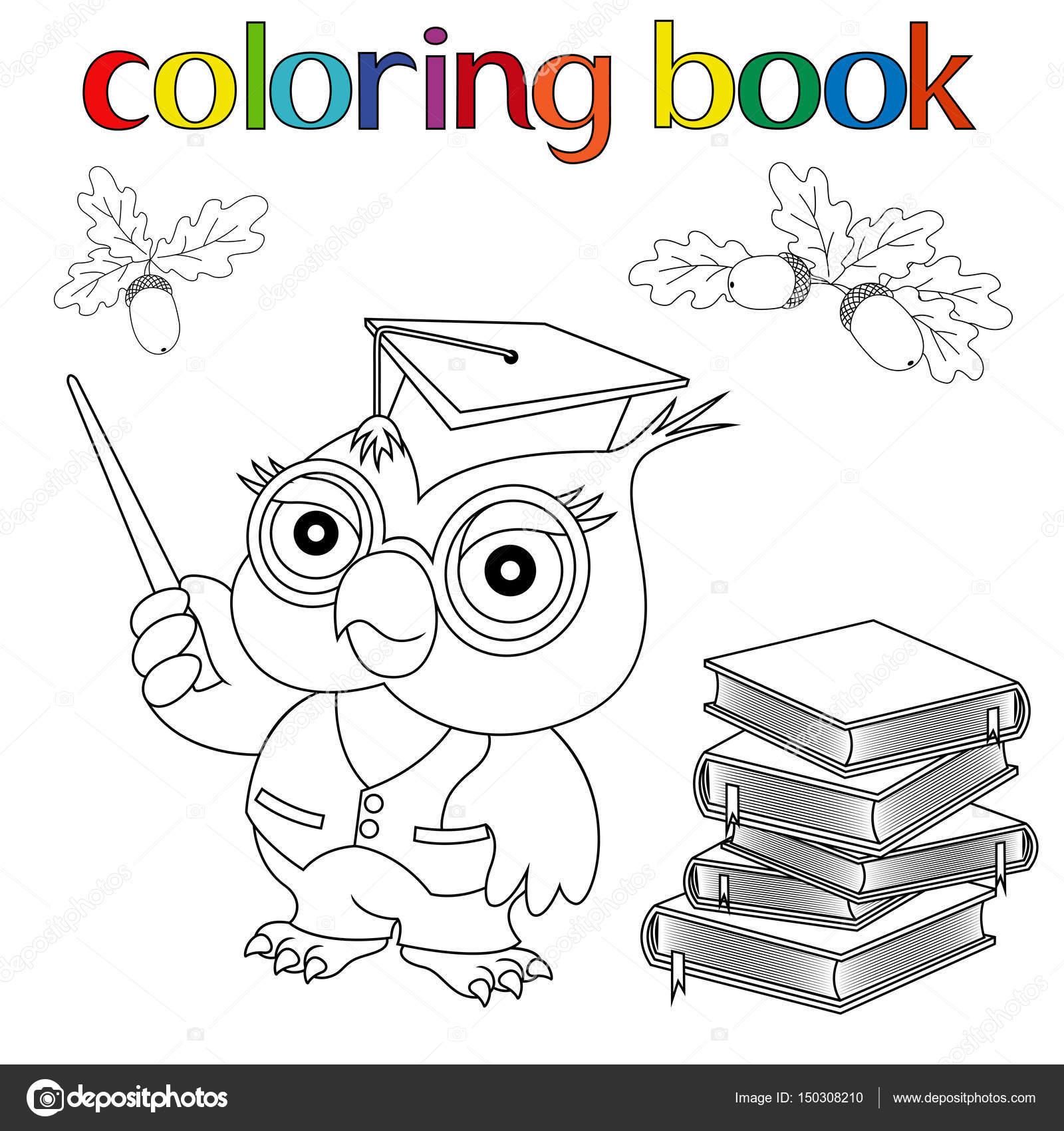 Dibujos Para Profesora Infantil Conjunto De Profesor Owl Libros