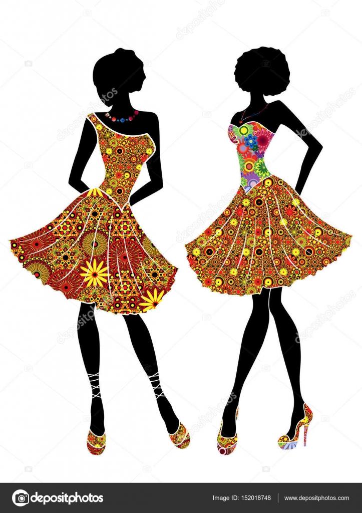 31bdfb80d6f Очаровательные изящные дамы с изысканной красоты в короткие платья и на  высоких каблуках