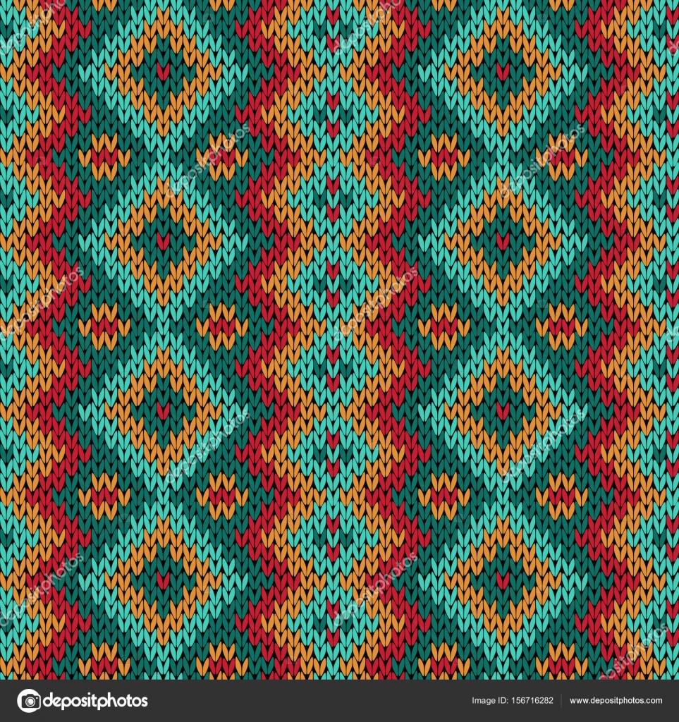 Sin fisuras patrón abigarrado de tejer — Vector de stock © natreal ...