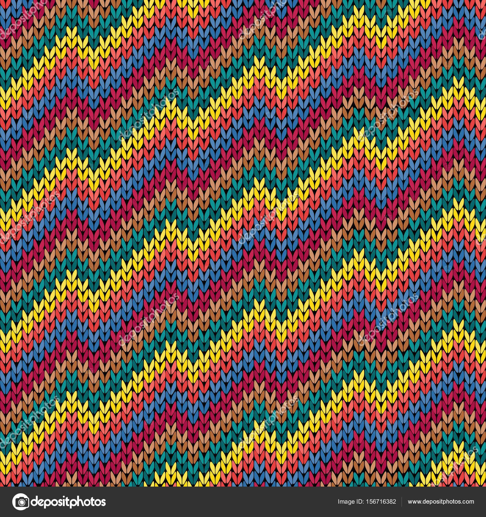 Línea de zigzag multicolor que hace punto patrones sin fisuras ...