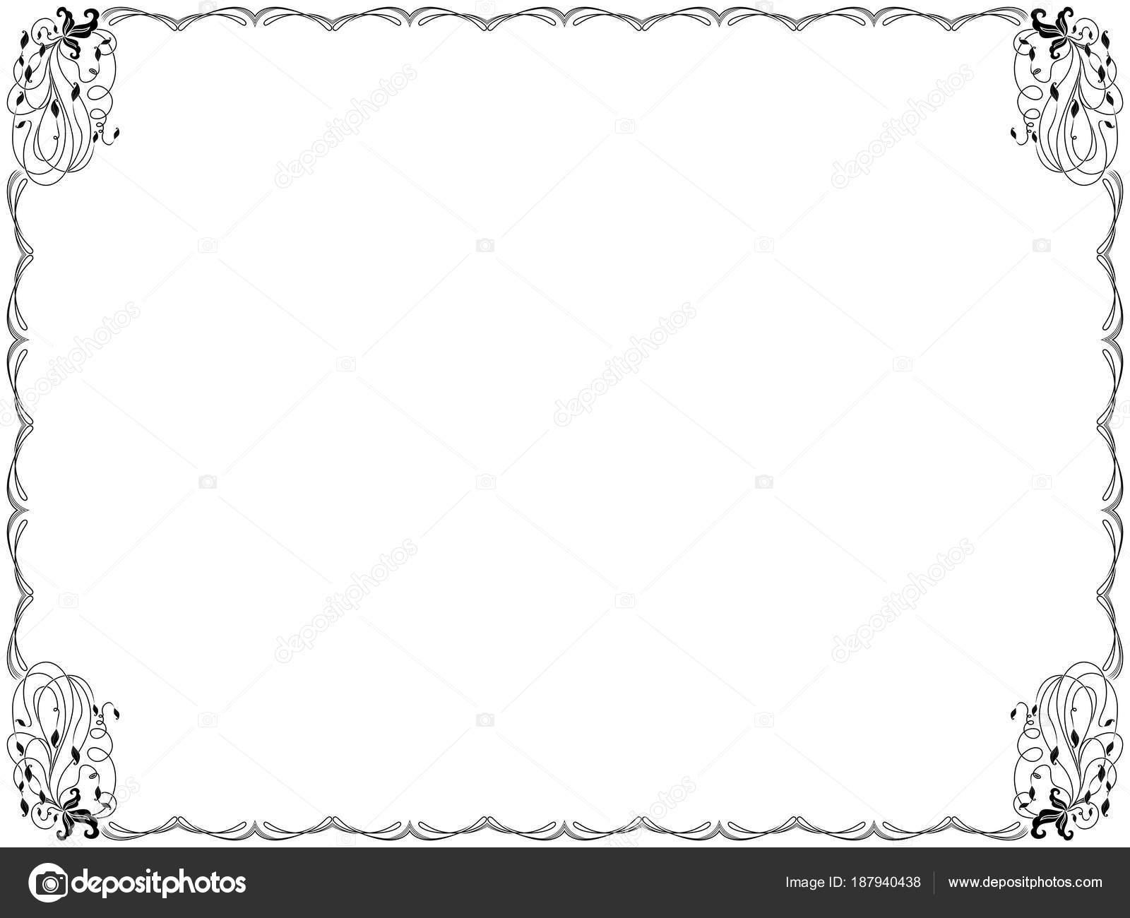 Gerahmte Hintergrund mit floralen Elementen — Stockvektor © natreal ...