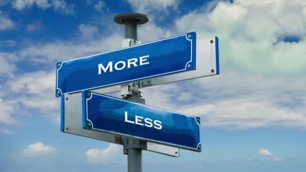 Ulice Podepsat cestu k více versus méně