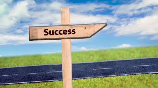 Street Sign the Way to Success