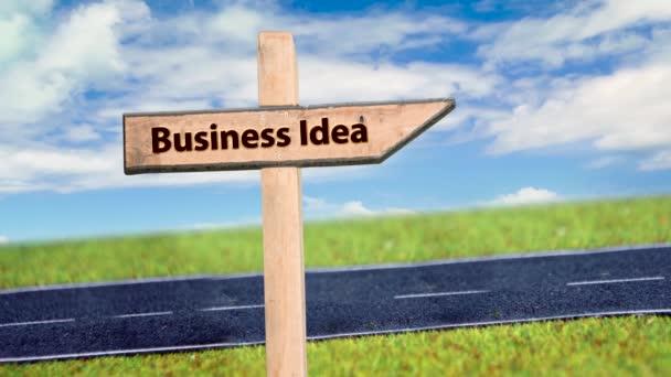 Straßenschild weist Weg zur Geschäftsidee