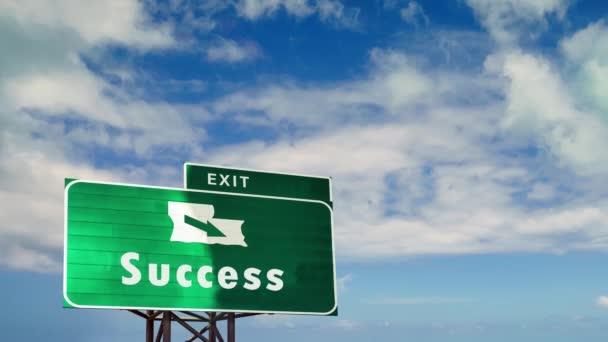 Straßenschild weist den Weg zum Erfolg