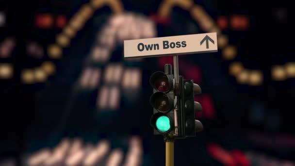Straße zeichen den Weg zum eigenen Boss