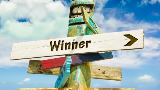 Street Sign the Way to Winner