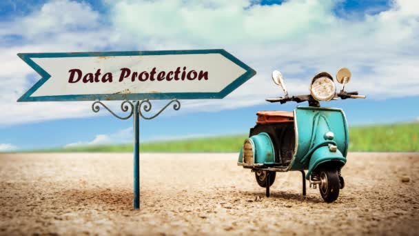 Street Sign the Way to Data Protection