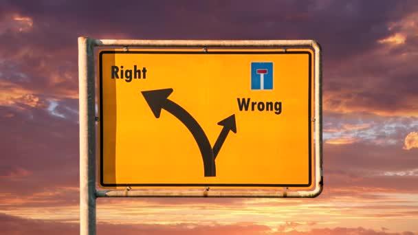 Ulice Podepsat cestu k právu versus špatné