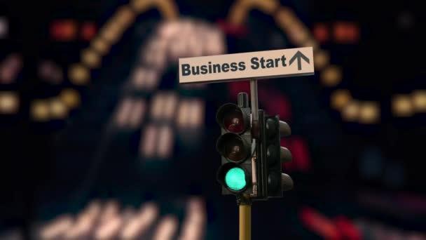 Straßenschild weist den Weg zur Existenzgründung