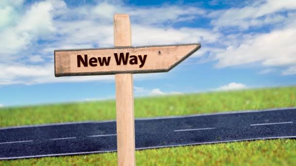 Street Sign az út új út