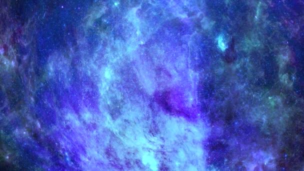 Animační pohled na cestování vesmírem v pohybu