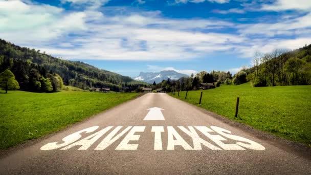 Straßenschild weist den Weg zum Steuersparen