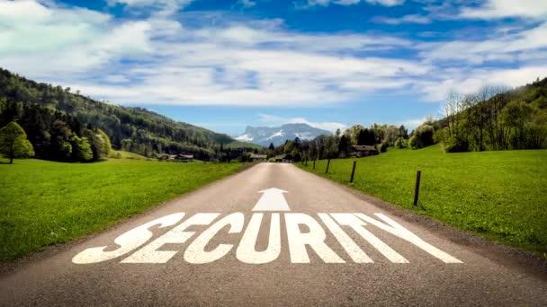 Straßenschild weist Weg in die Sicherheit