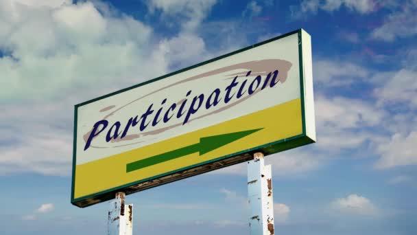 Street Sign a módja annak, hogy részvétel