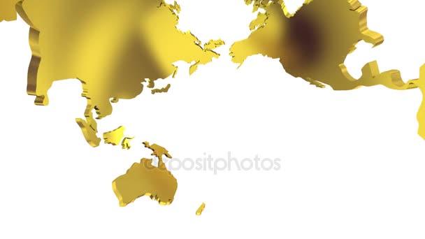 Mapa světa promění v Globus. Pohled dovnitř