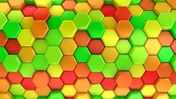 animierte farbige Sechsecke