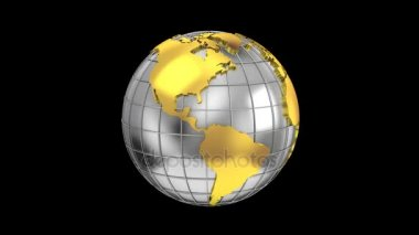 Animation gray world map showing global business finance network world map turns into a globe gumiabroncs Gallery