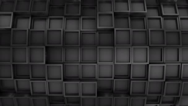 Pozadí z čtverců. Abstraktní, pozadí, 2 v 1, loop, vytvořené ve 4k, 3d animace