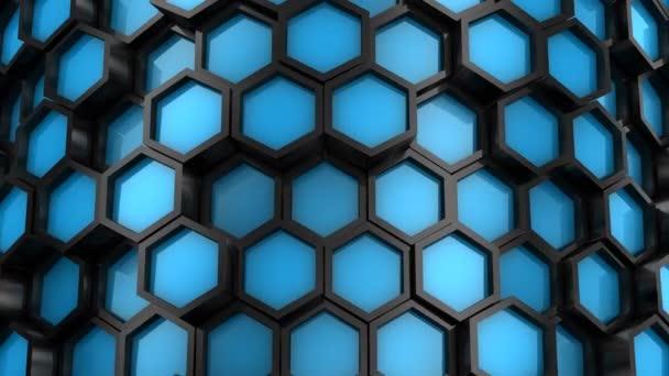 Hintergrund aus Sechsecken. abstrakter Hintergrund, 2 in 1, Loop, erstellt in 4k, 3D-Animation