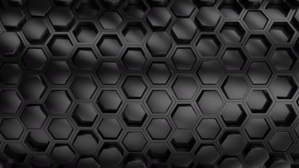 Background From Hexagons. Abstract background, 2 in 1, loop, created in 4K, 3d animation