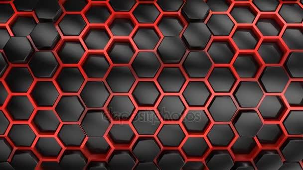 Hintergrund aus Sechsecken. abstrakter Hintergrund, Schleife, erstellt in 4k, 3D-Animation