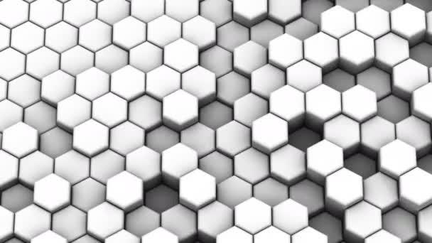 Sechsecke bilden eine Welle. abstrakter Hintergrund, 3 in 1, erstellt in 4k, 3D-Animation