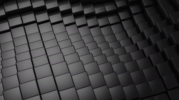 Datové krychle vytvořené vlnu. Abstraktní, pozadí, 2 v 1, loop, vytvořené ve 4k, 3d animace