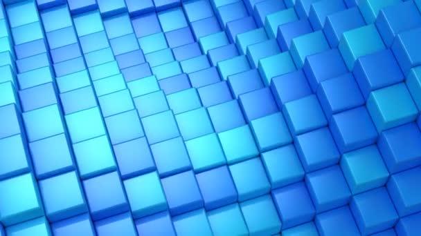 Kocka egy hullám alakult ki. Absztrakt háttér, 2-1, hurok (301-600 képkocka), készítette a 4k, 3d animáció