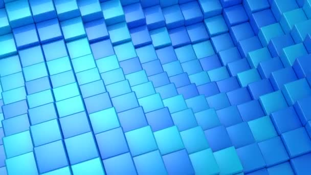 Cubes Formed A Wave. Abstract background, 2 in 1, loop, created in 4K, 3d animation