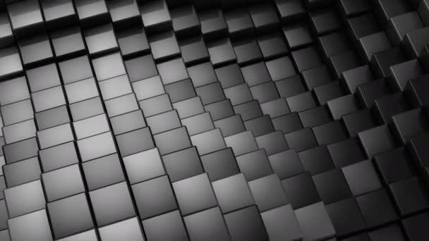 Würfel bildeten eine Welle. abstrakter Hintergrund, 2 in 1, Loop, erstellt in 4k, 3D-Animation
